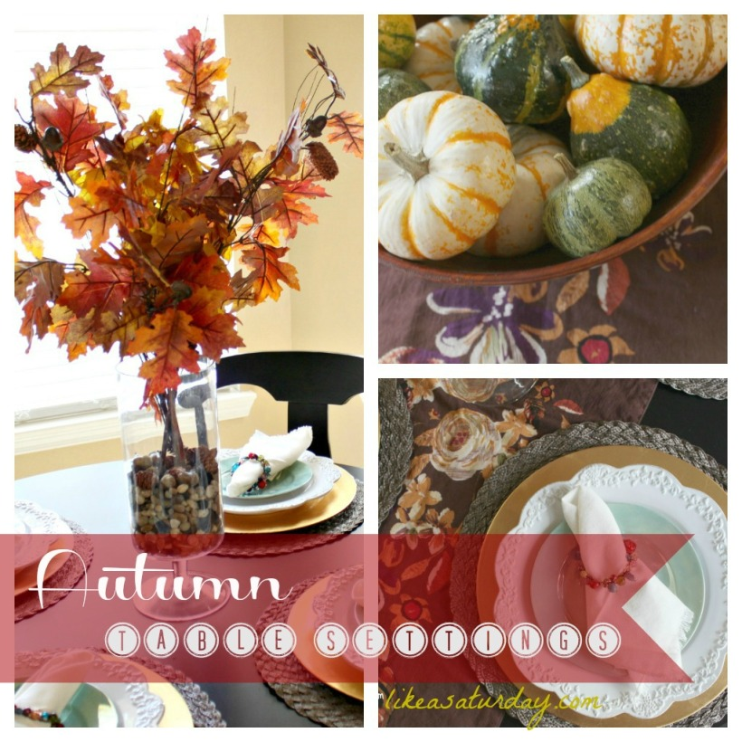 Autumn Table Settings at Like a Saturday