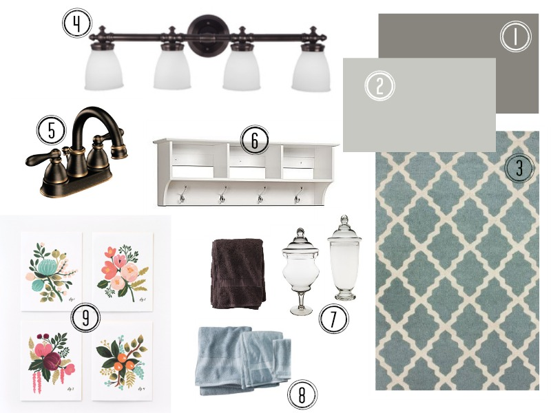 Like a Saturday : Bathroom Mood Board