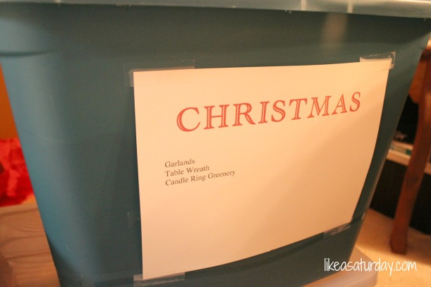 Like a Saturday : How I Put Away Christmas {Without Losing My Mind}