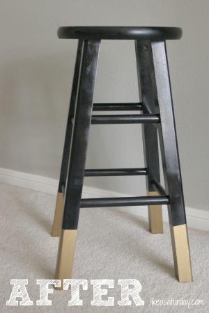 gold dipped bar stools : like a saturday