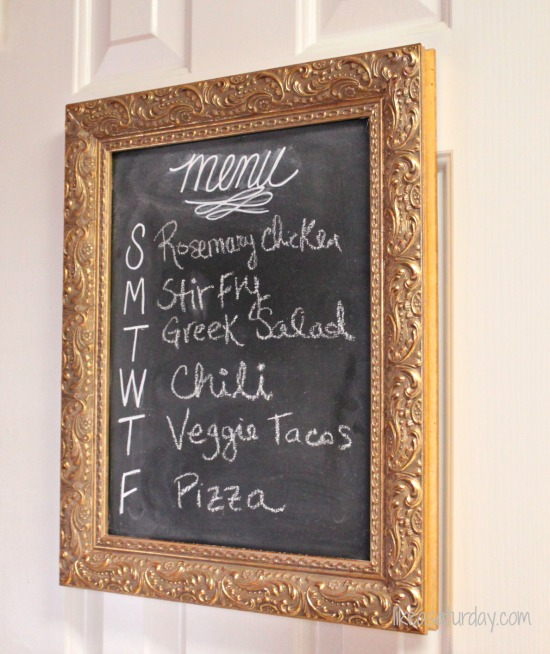 10 Awesome DIY Mother's Day Gifts : Chalkboard Menu