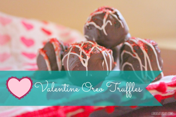 valentine oreo truffles : like a saturday