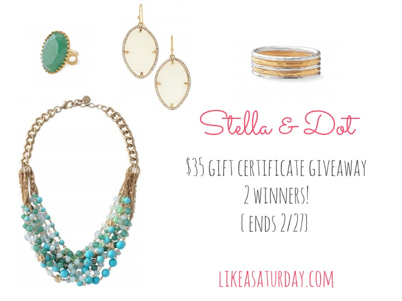 stella and dot giveaway : like a saturday