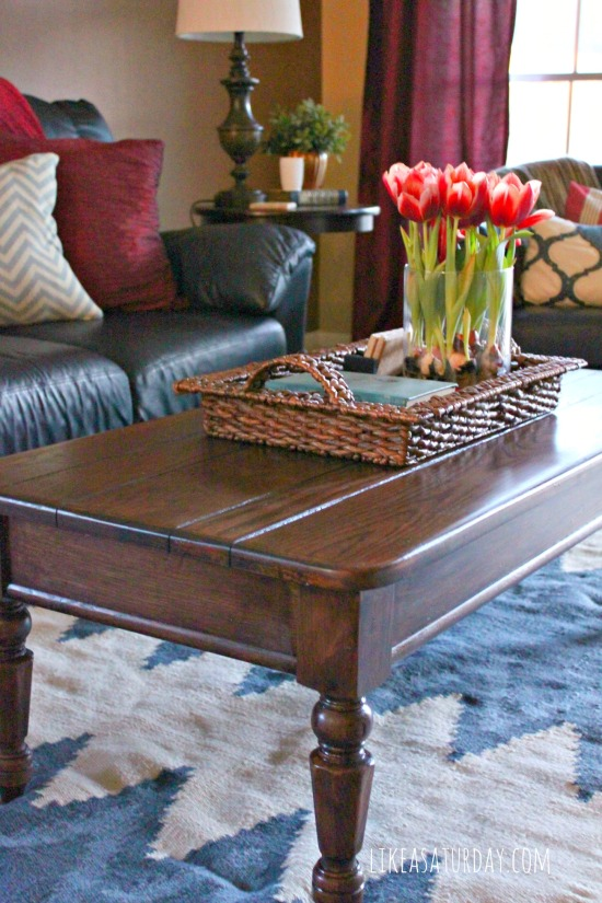 coffee table refresh {and new rug} : like a saturday