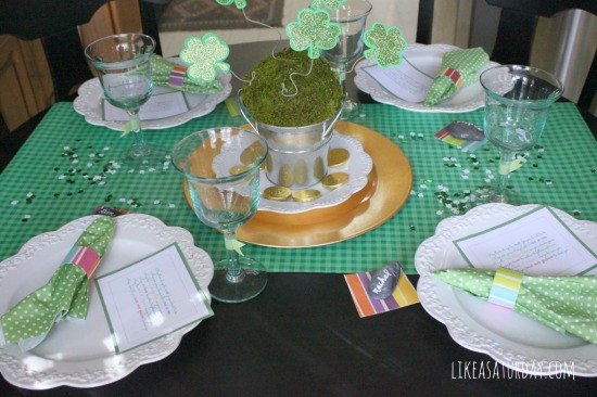st pattys table : like a saturday