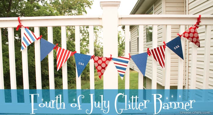 4th of July Glitter Banner