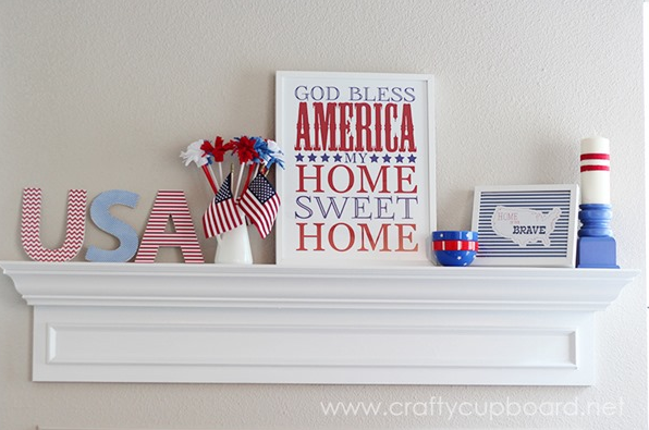 Patriotic Mantle Decor