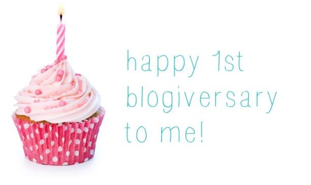 happy 1st blogiversary